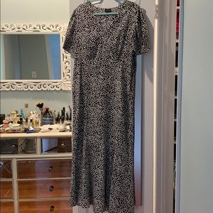 Black with white dots Maxi dress